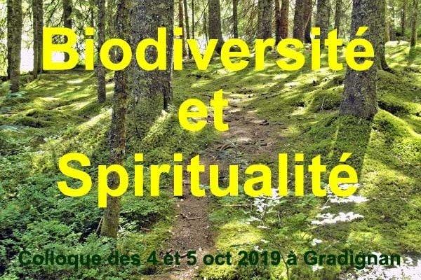 Visuel du Colloque Biodiversité et Spiritualité