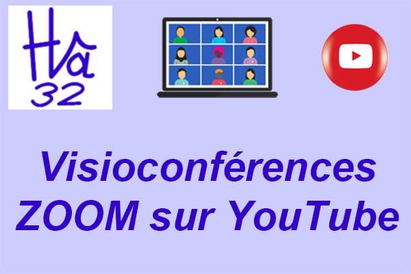 Visuel annonce des visioconférences sur YouTube